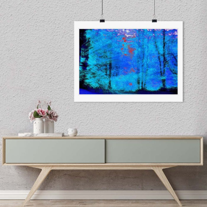 """Blue Trees"" by Daniel Furon Photography-Artography Limited"