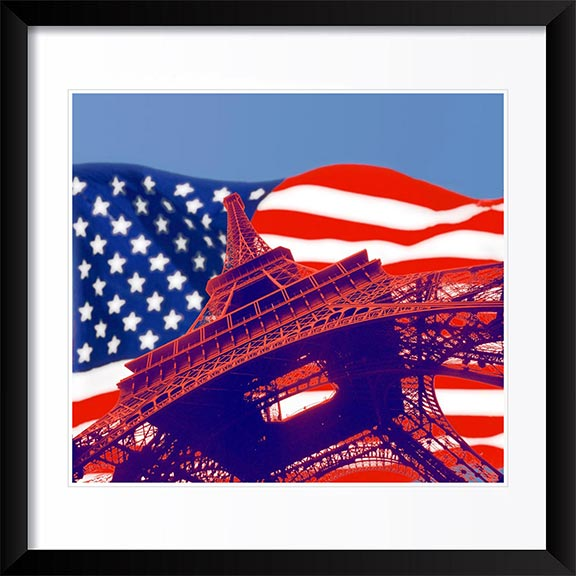 """US Flag, Eiffel Tower"" by Daniel Furon Photography"