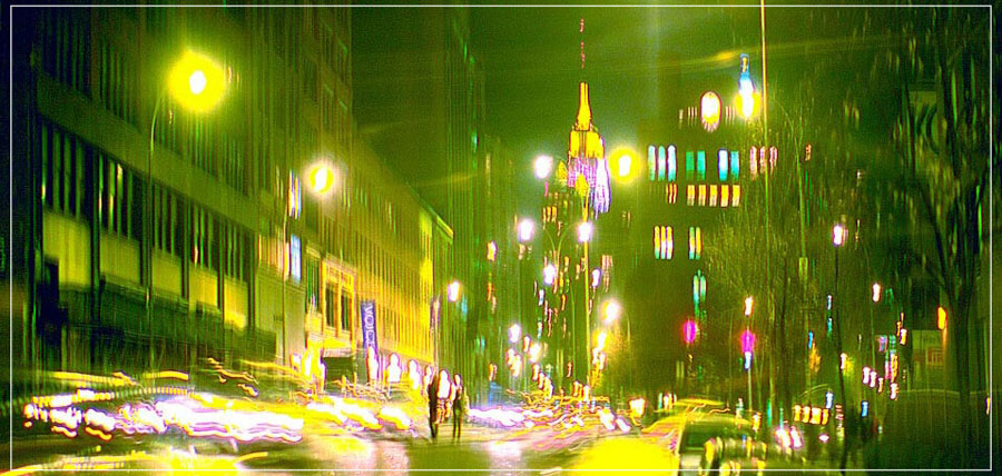"""Manhattan Night"" by Daniel Furon Photography-Artography Limited"