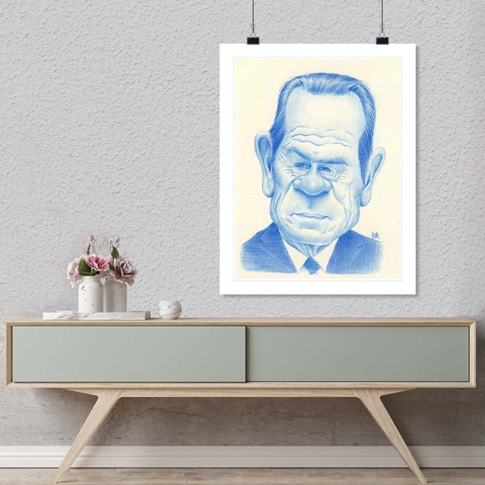 """Tommy Lee Jones"" by Dan Springer Photography-Artography Limited"