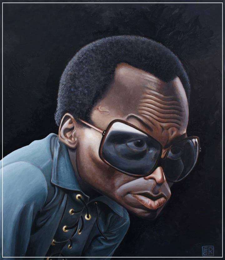 """Miles Davis"" by Dan Springer Photography-Artography Limited"