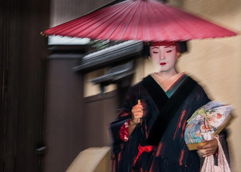 """Geisha in the Rain (A)"" by Dorte Verner Photography-Artography Limited"