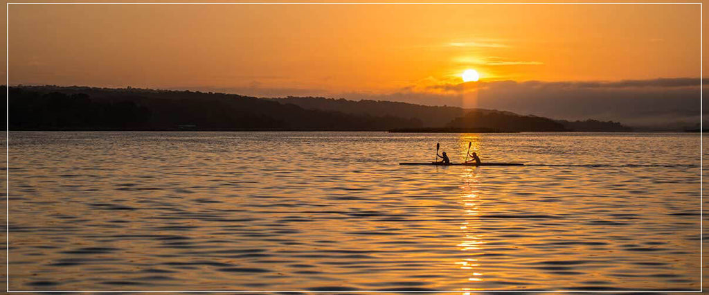 """Rowing in the Sun Rise"" by Dorte Verner Photography-Artography Limited"