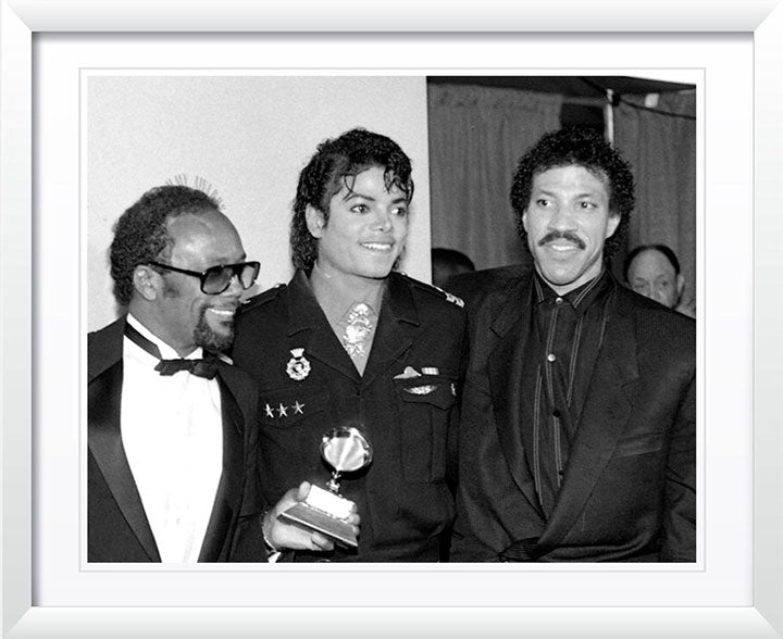 """Quincy Jones, Michael Jackson & Lionel Richie"" by Delroi Whitaker Photography"