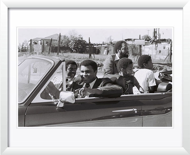 """Muhammad Ali in Rolls Royce Corniche"" by Delroi Whitaker Photography"