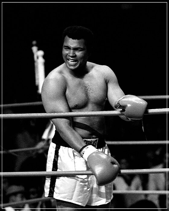 """Muhammad Ali Laughing In Ring"" by Delroi Whitaker Photography-Artography Limited"