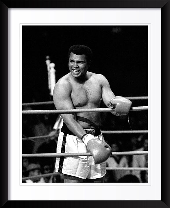 """Muhammad Ali Laughing In Ring"" by Delroi Whitaker Photography"