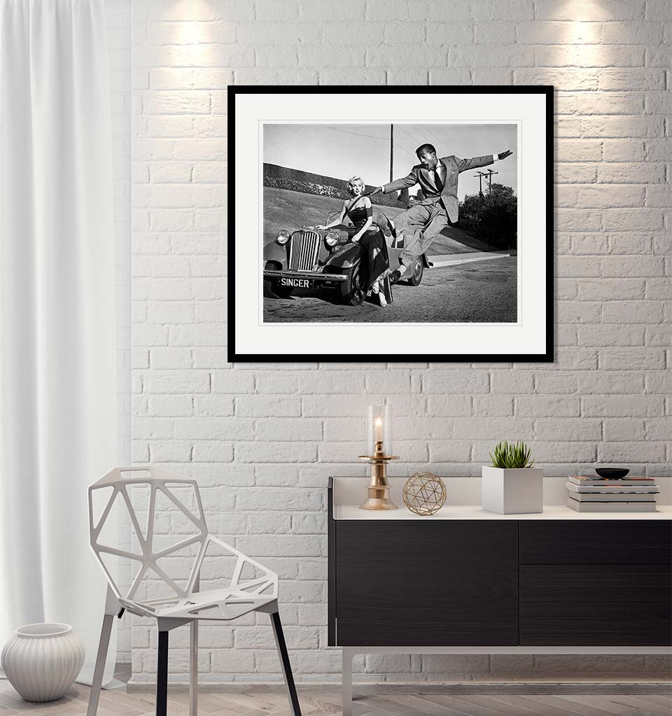 Marilyn Monroe & Sammy Davis Jr, 1953 – Original Fine Art Print-Artography Limited