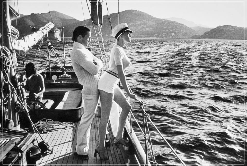 """Winnie on Deck Cannes, 1975 1"" by Helmut Newton Photography-Artography Limited"