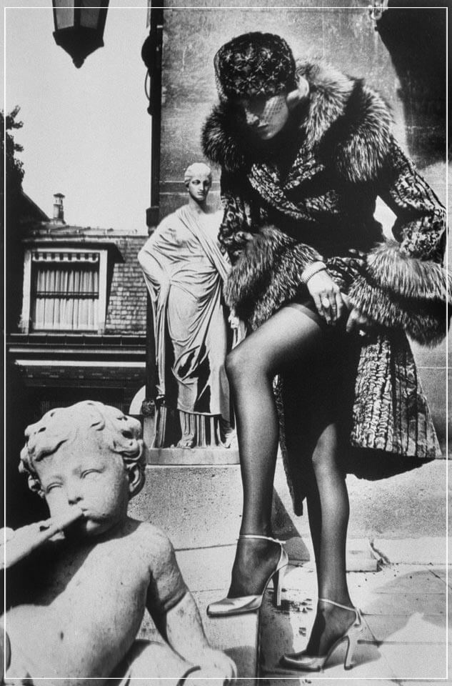 """Pere Lachaise Tomp of Talma 2, 1977"" by Helmut Newton Photography-Artography Limited"