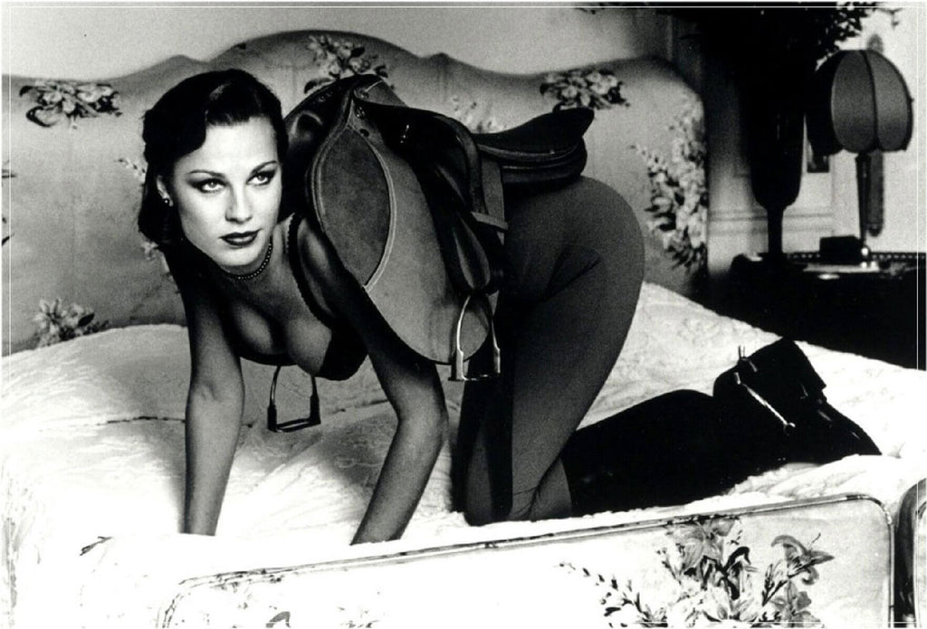 """Saddle 1, Paris 1976"" by Helmut Newton Photography-Artography Limited"