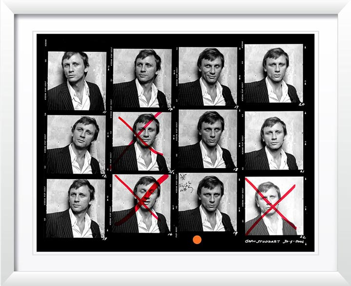 """Daniel Craig Contact Sheet"" by John Stoddart Photography"