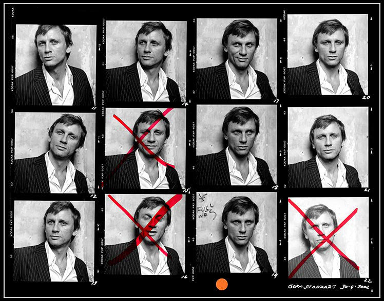 """Daniel Craig Contact Sheet"" by John Stoddart Photography-Artography Limited"