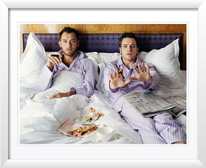 Jude Law and Ewan McGregor in Bed by Lorenzo Agius Photography