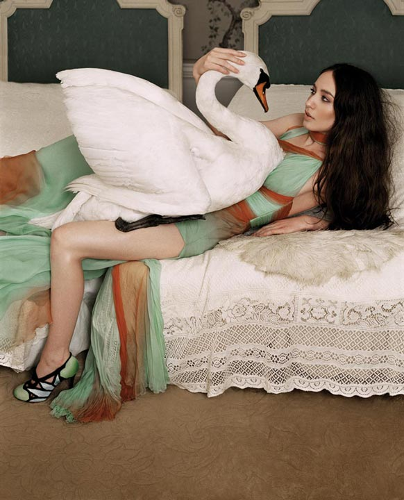 The Interpretation: Liz Jagger with a Swan by Lorenzo Agius Photography