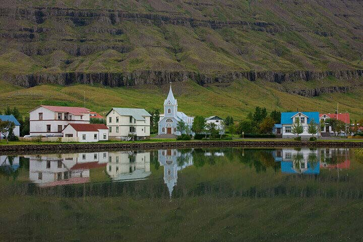 """East Fjord Town, Iceland"" by Tom Artin Photography"