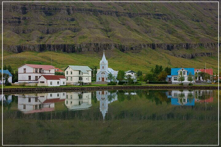"""East Fjord Town, Iceland"" by Tom Artin Photography-Artography Limited"
