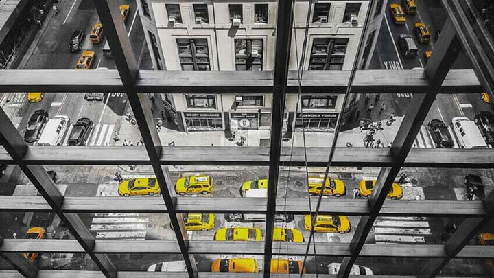"""Horizontal Cabs"" by Viet Chu Photography"