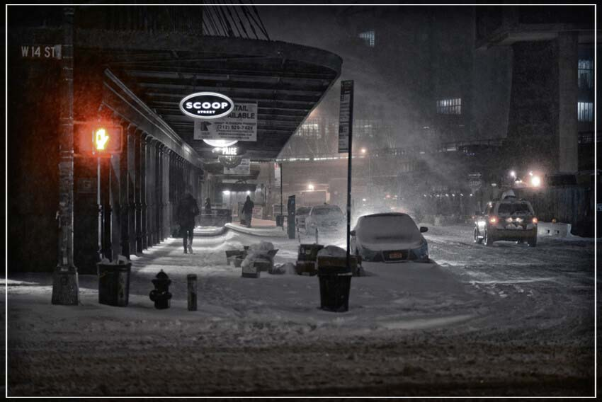 """Snowy Night, NYC"" by Viet Chu Photography-Artography Limited"