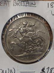 1890 English Crown - Nearly Uncirculated