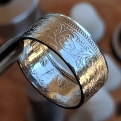 Indian 1 Rupee coin ring - Silver State Foundry
