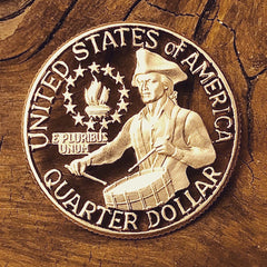 1976 Bicentennial US Quarter cut coin offered by Silver State Foundry