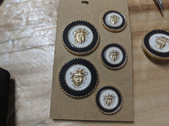 Vintage Versace cot buttons from the 1980s