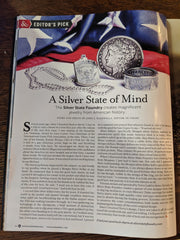 Morgan Coin Ring is Editor's Pick in Hook & Barrel Magazine