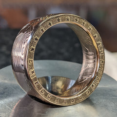 Edge Stamped Gold Eagle Coin Ring