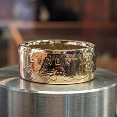St Gaudens Gold Eagle Coin Ring