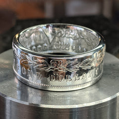 CC Morgan Silver Dollar Coin Ring