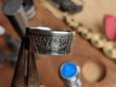 Morgan Silver Dollar Coin Ring - Silver State Foundry