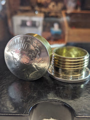 Peace Dollar Stash Box, Opened