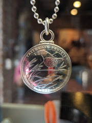 Silver state quarter locket