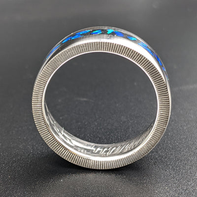 Cremation Ash Coin Ring