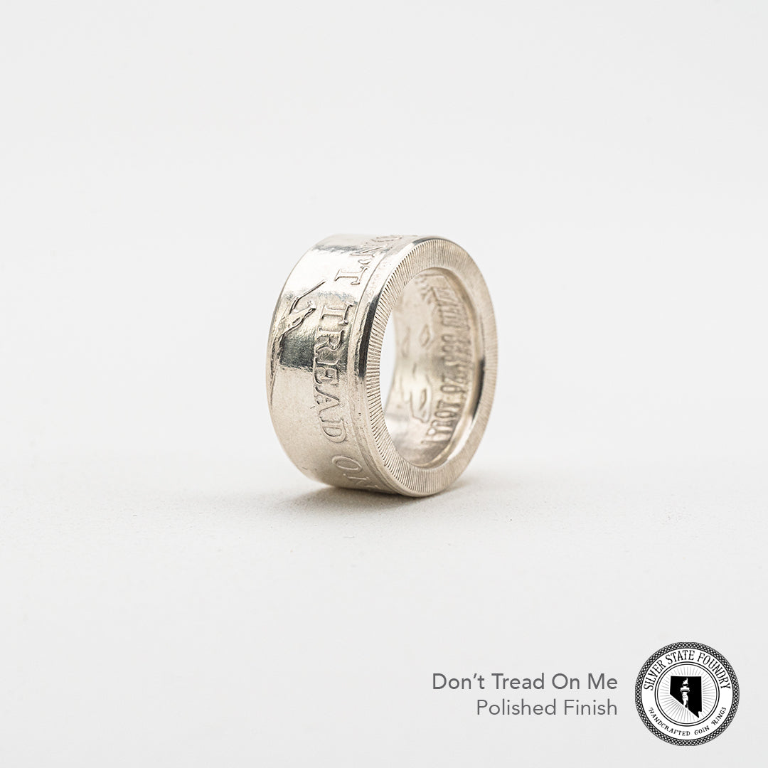 Don't Tread On Me Coin Ring