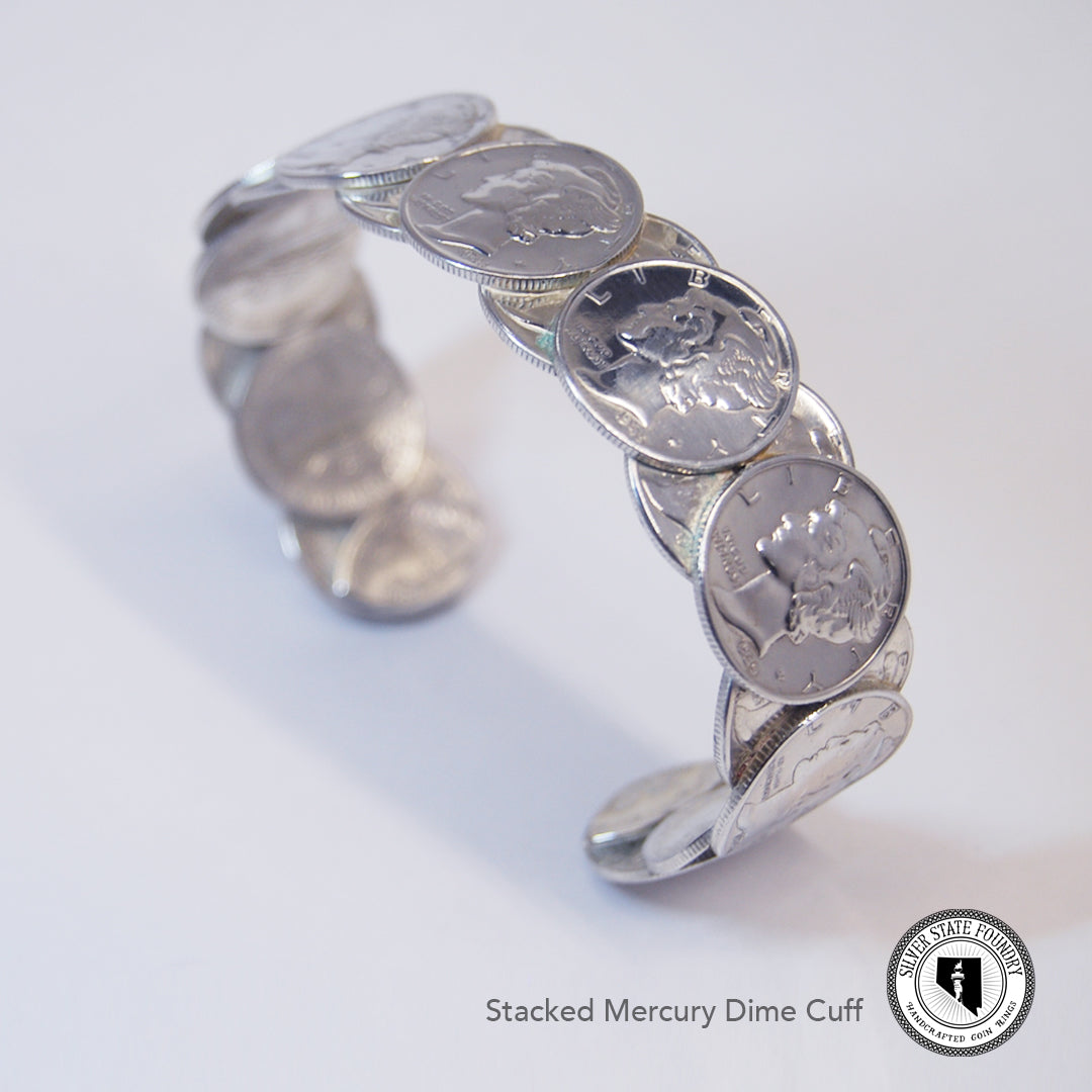 Mercury Dime Stacked Cuff