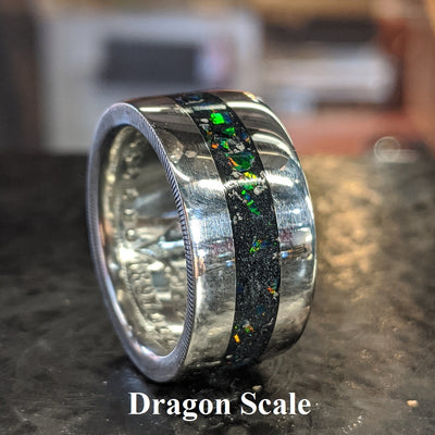 Color sample - dragon scale opal inlay