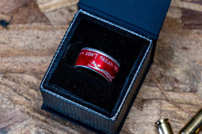 Colorized 'Patriot Pair' Coin Ring Set for Wounded Warrior Project®