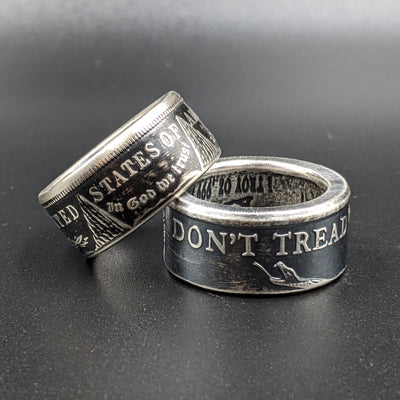 Classic 'Patriot Pair' Coin Ring Set for Wounded Warrior Project®