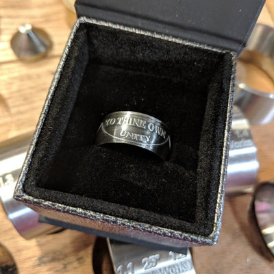 Solid Silver Recovery Medallion Coin Ring