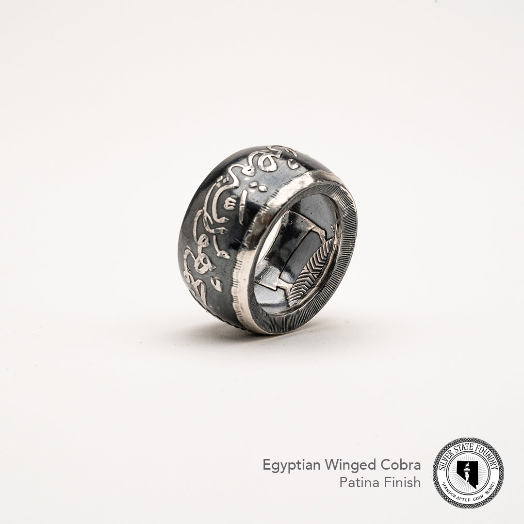 Egyptian Cobra Coin Ring