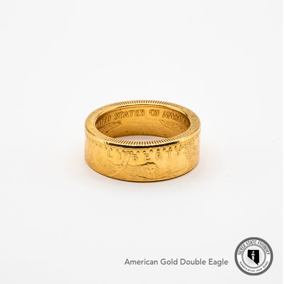 The most beautiful gold coin ring made - an American Gold Eagle Coin Ring