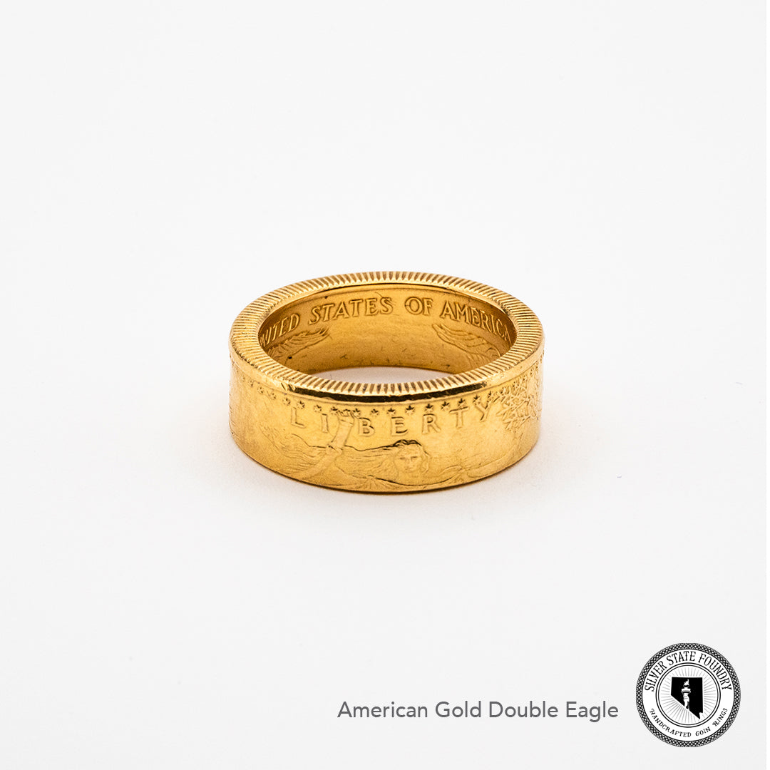 Front view of American Gold Eagle Coin Ring