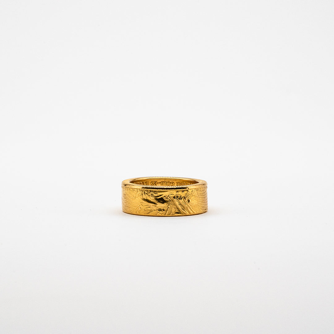 Gorgeous gold coin ring from an American Gold Ealge