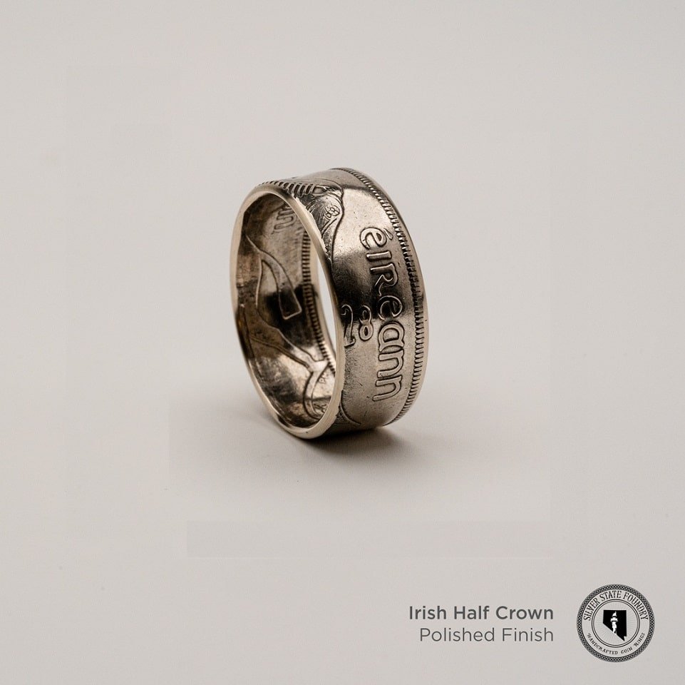 Irish Silver Half Crown Coin Ring (Limited Release)