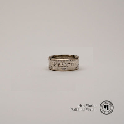 Irish Silver Florin Coin Ring
