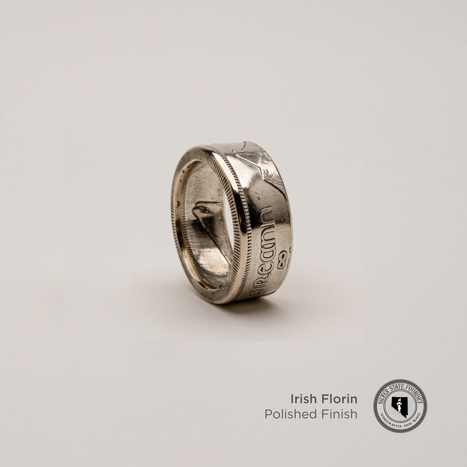 Irish Silver Florin Coin Ring (Limited Release)