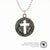 JFK Half Dollar Pendant with Christian Cross Cutout
