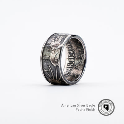 Silver Eagle Coin Ring